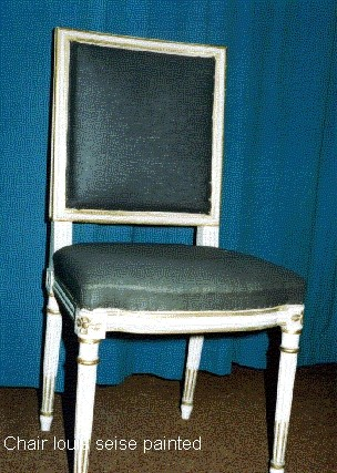 Painted Louis 'Seise' chair