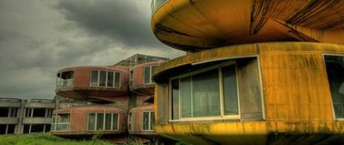 Abandoned UFO houses, 15km north of Taiwan's capitol