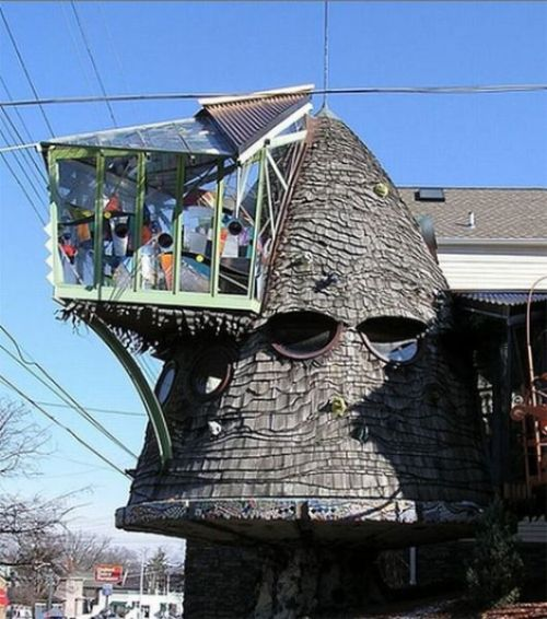 Architect's house in Cincinnati Ohio, USA (aka the WTF house)