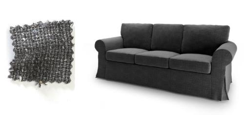 My sofa with Antibes Charcoal Grey