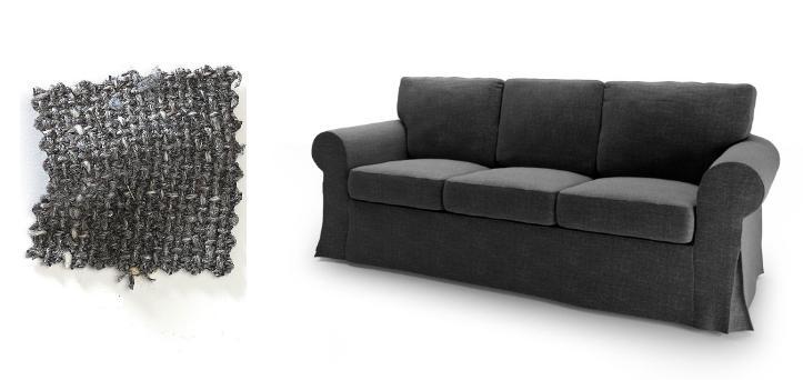 charcoal grey ektorp sofa home voyeurs a peek into homes. Black Bedroom Furniture Sets. Home Design Ideas