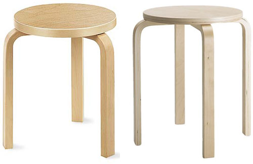 Aalto left, Ikea right....
