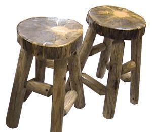 Rustic Pine Barstools