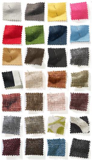 Fabric choices at Savemysofa.com