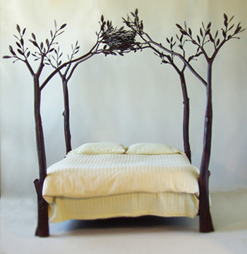 Shawn Lovell metalworks Tree Bed