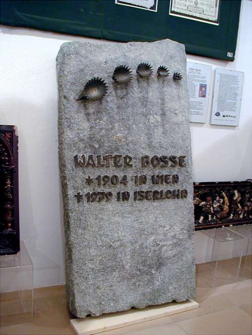 Bosse's tombstone in the Austrian Bezirksmuseum