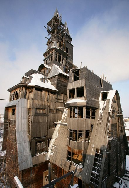Wooden Gangster House, Archangelsk, Russia