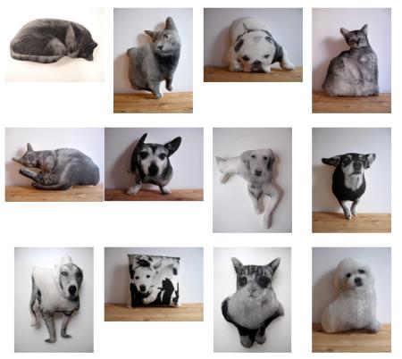 Broderpress custom pillows of your pet