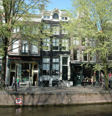 The House is situated on a lovely, treelined canal